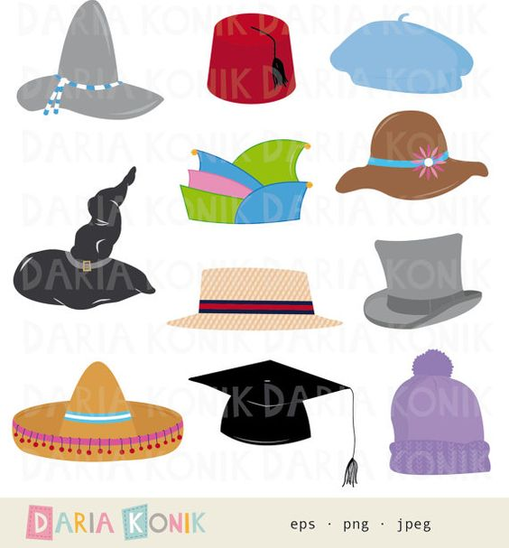 Jpeg clip art images clip stock Hats Clip Art-sombrero, fez, beret, top hat, knitted hat, boater ... clip stock
