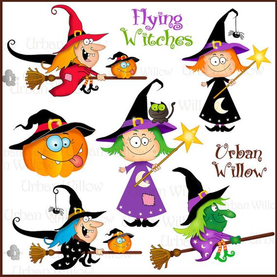 Jpeg clipart clip art library Flying Witches - Png & Jpeg clip art images | Clip art, Commercial ... clip art library