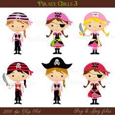 Jpeg clipart banner Pirate Girl- Png & Jpeg clip art images | Clip art, Pirates and Girls banner