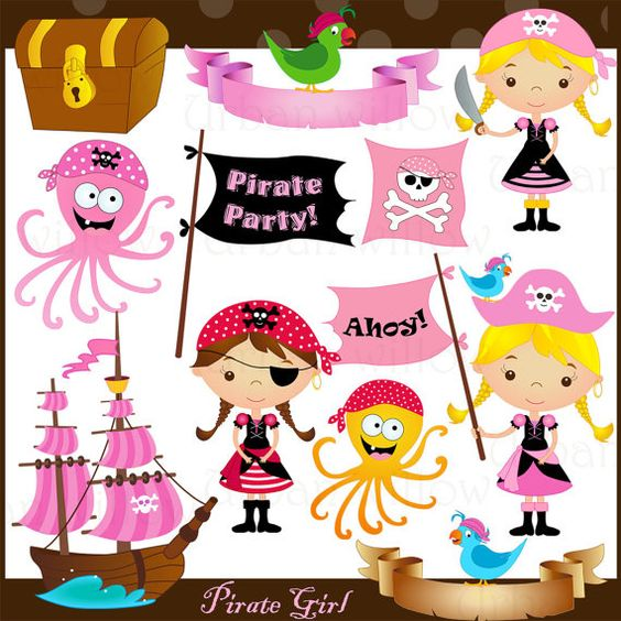 Jpeg clipart image transparent library Pirate Girl- Png & Jpeg clip art images | Clip art, Pirates and Girls image transparent library