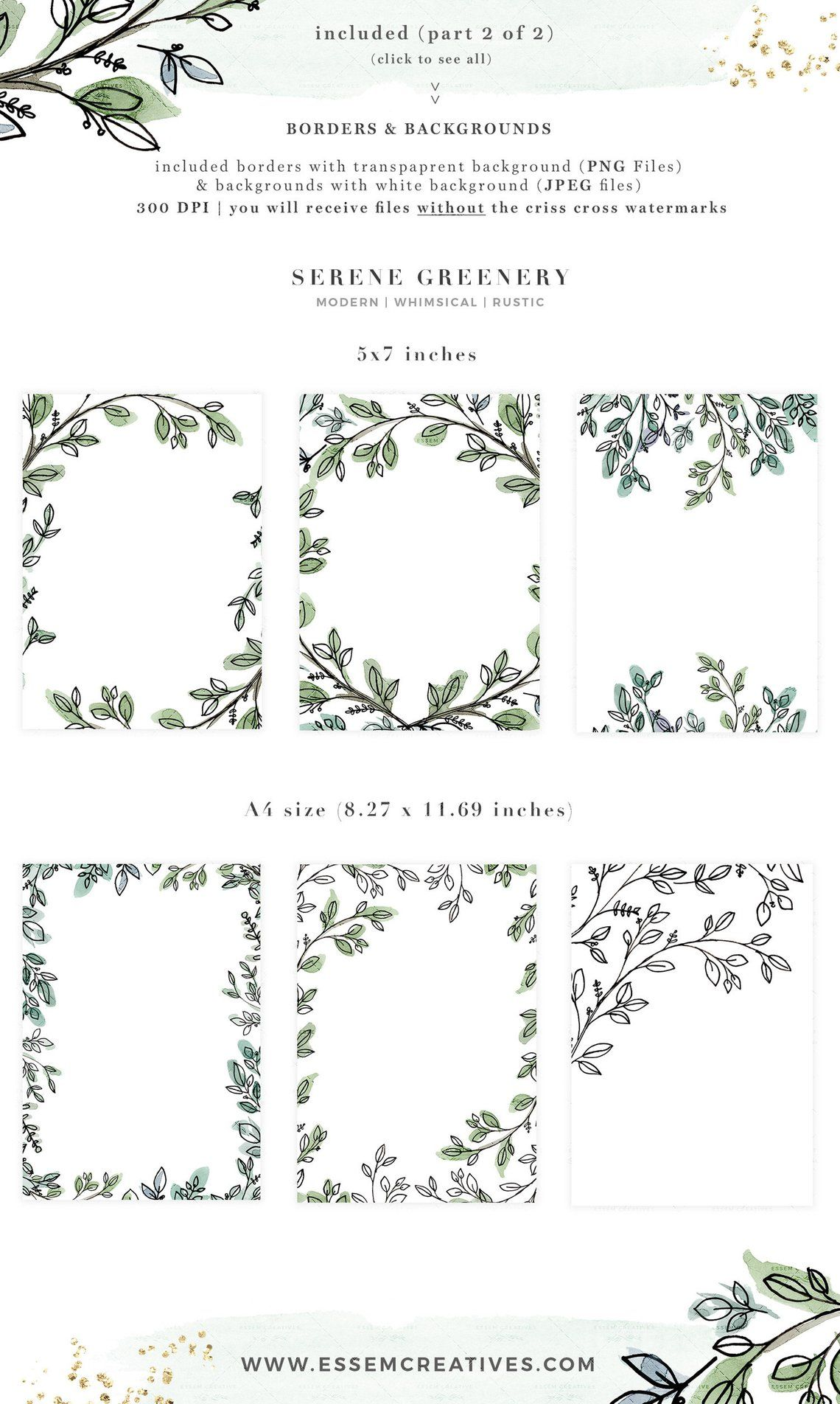 Jpeg clipart of leaf branch use for logos clip art library Watercolor Leaves Clipart, Greenery Line Art Branches Graphics ... clip art library