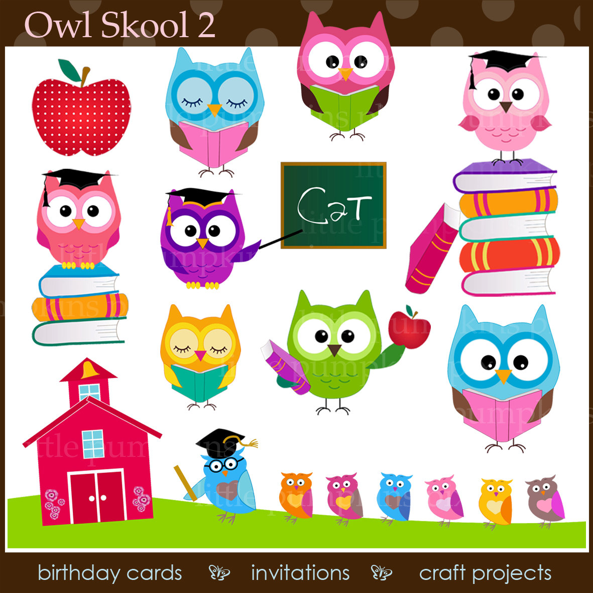 Jpeg school clipart png stock OWL School Clipart Educational Graphics School Clipart png stock
