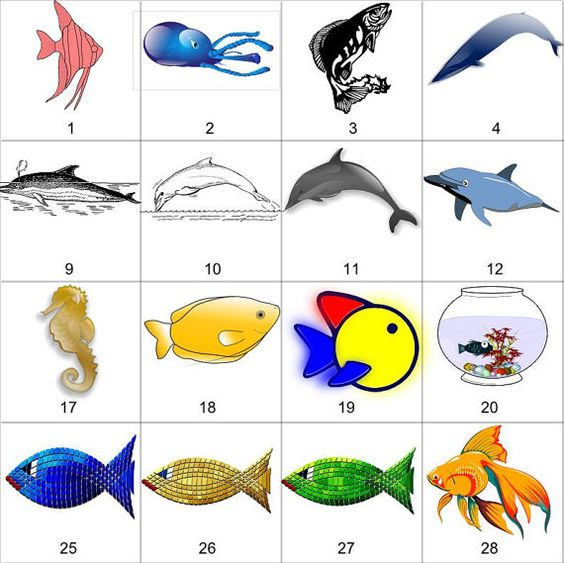 Jpeg to clipart jpg library library Fish 1 - These 80 clipart may be purchased digitally in JPEG, PNG ... jpg library library