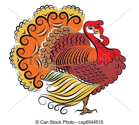 Jpeg turkey clipart picture freeuse library Clipart Vector of Color turkey.Vector Thanksgiving day csp6544515 ... picture freeuse library