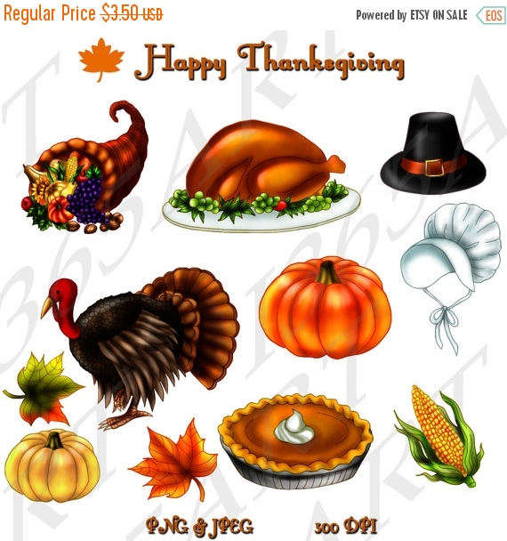 Jpeg turkey clipart vector free library 50% OFF Happy Thanksgiving Clipart, Party, Invitations ... vector free library