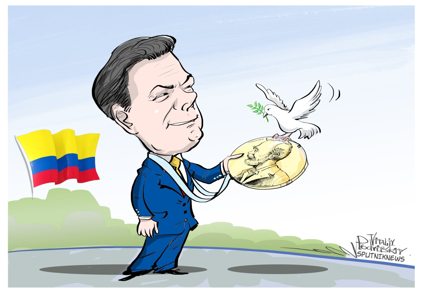 Juan manuel santos clipart vector black and white download Colombia – The Peace Farce – If There Was Ever One – Global Affairs ... vector black and white download