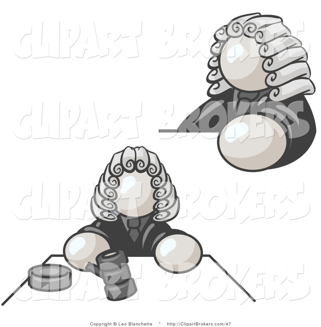 Judge wig clipart clipart freeuse stock Clip Art of a White Judge Man Wearing a Powdered Wig in Court by Leo ... clipart freeuse stock