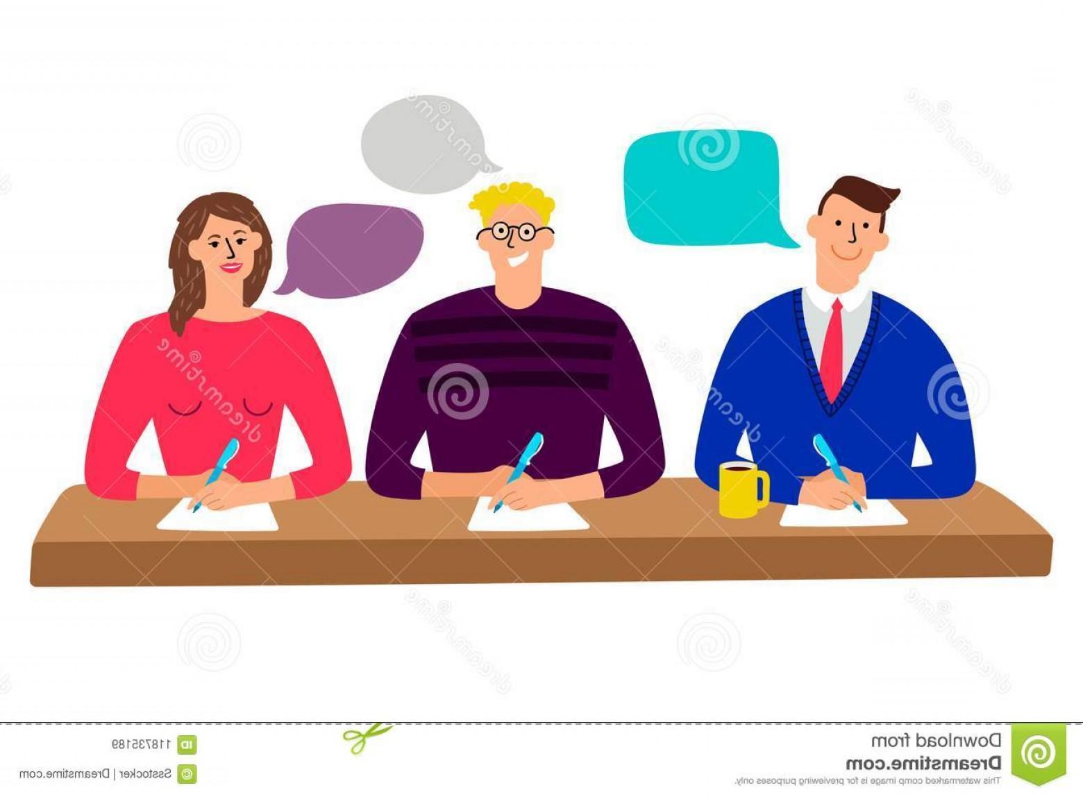 Judging clipart graphic free download Judging Committee Judges Table Quiz Scoring Men Woman People Vector ... graphic free download