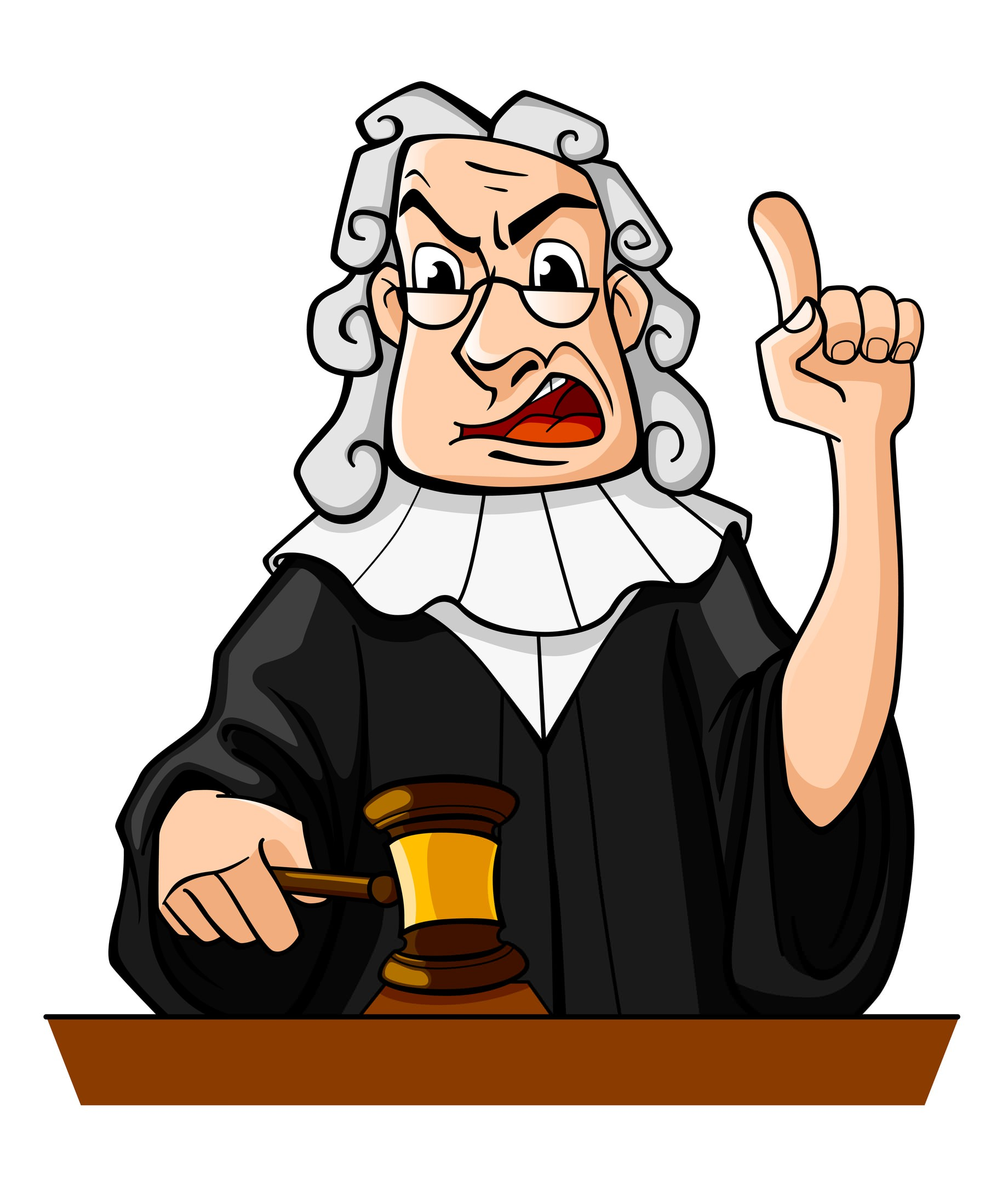 Judging clipart vector black and white Free Cartoon Judge, Download Free Clip Art, Free Clip Art on Clipart ... vector black and white