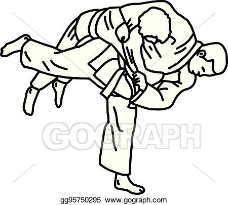 Judo images black and white clipart high res clip art download EPS Vector - Judo martial art - vector illustration sketch hand ... clip art download
