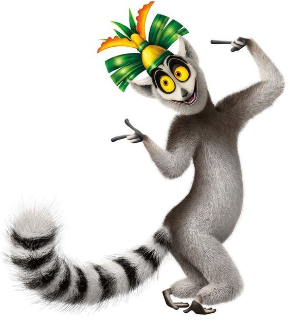 Madagascar characters clipart banner free stock Lemur clipart king julian #5 | madagascar in 2019 | King julian ... banner free stock