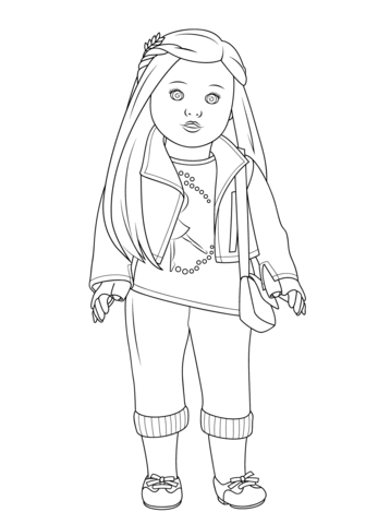 Julie american girl doll clipart at school png stock American Girl Isabelle Doll coloring page | Free Printable Coloring ... png stock