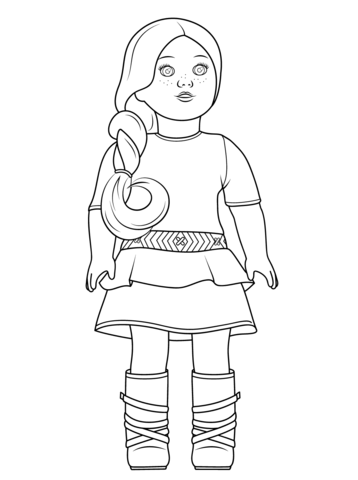 Julie american girl doll clipart at school svg royalty free stock American Girl Saige coloring page | Free Printable Coloring Pages svg royalty free stock