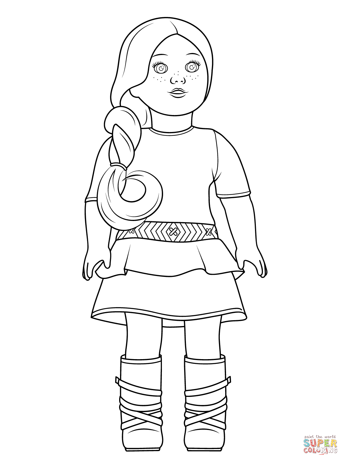 Julie american girl doll clipart at school clip freeuse library American Girl Saige coloring page | Free Printable Coloring Pages clip freeuse library
