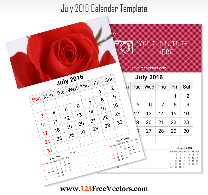 July 2016 calendar sporty clipart png royalty free stock 80+ 2016 Calendar Template Vectors | Download Free Vector Art ... png royalty free stock