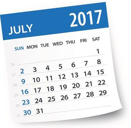 July 2017 clipart image freeuse stock July 2017 Calendar Leaf Illustration premium clipart - ClipartLogo.com image freeuse stock