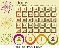 July calendar clip art picture royalty free library July 1 Vector Clip Art EPS Images. 319 July 1 clipart vector ... picture royalty free library