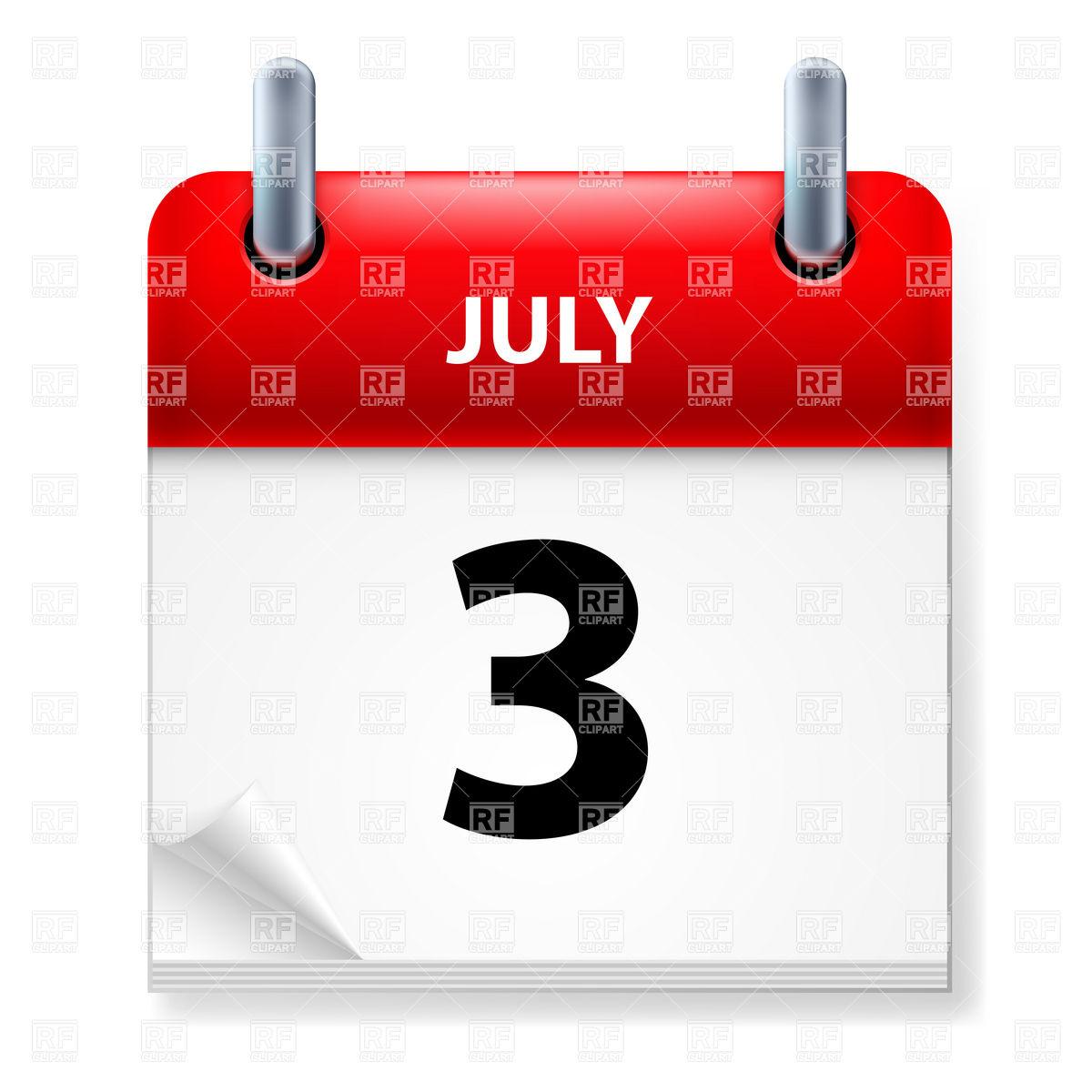 July calendar clipart svg transparent stock 3 of July - calendar icon Vector Image #7212 – RFclipart svg transparent stock