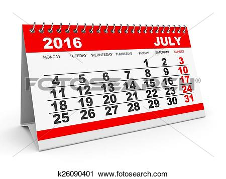 July calendar clipart png royalty free download Clipart of Calendar July 2016. k26090401 - Search Clip Art ... png royalty free download