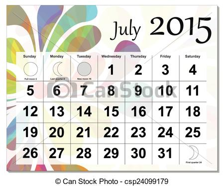 July calendar clipart clip art royalty free stock Free calendar clipart 2015 - ClipartFest clip art royalty free stock
