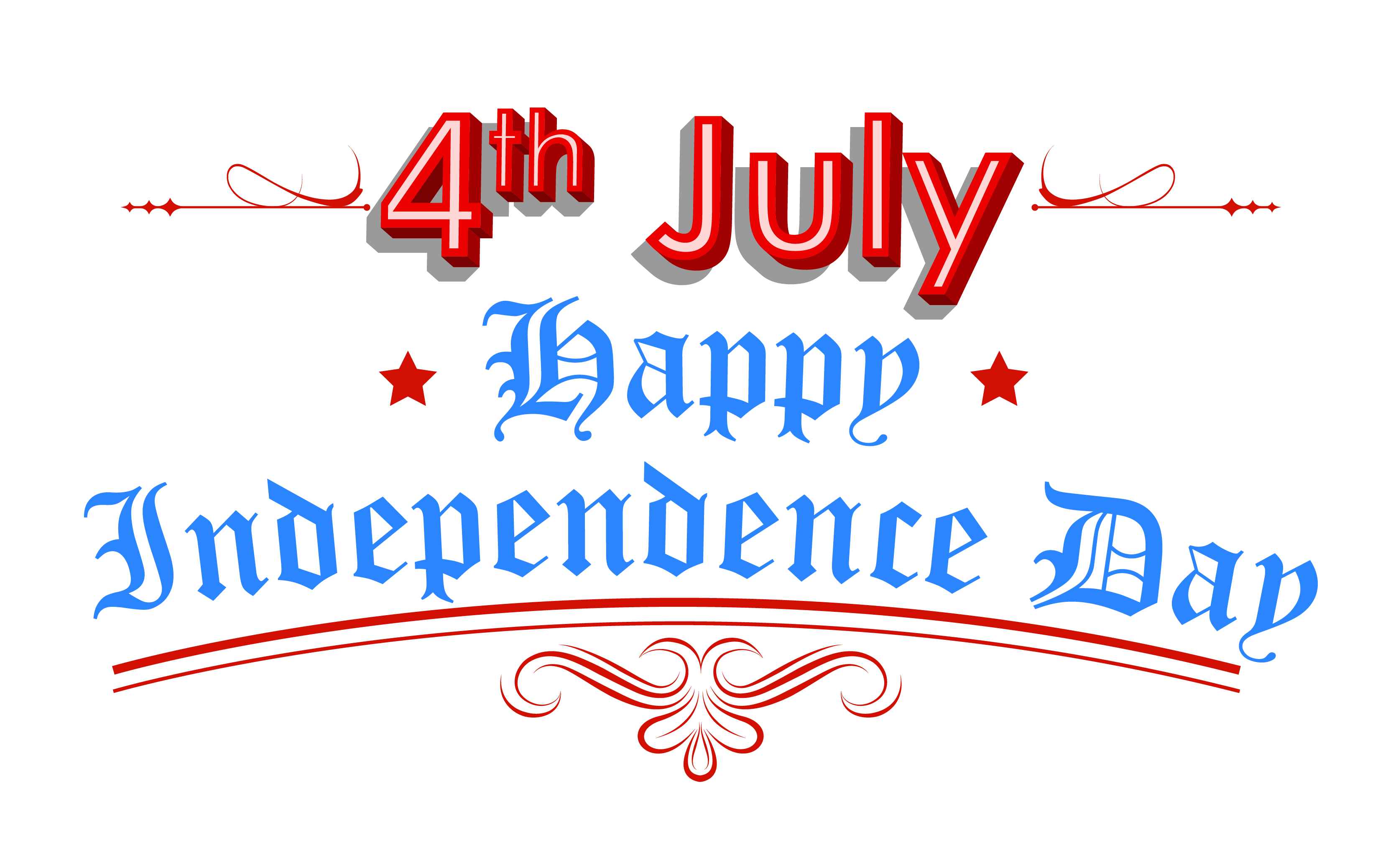 Happy Independence Day 4th July Clipart | July 4th Clip Art ... graphic free stock