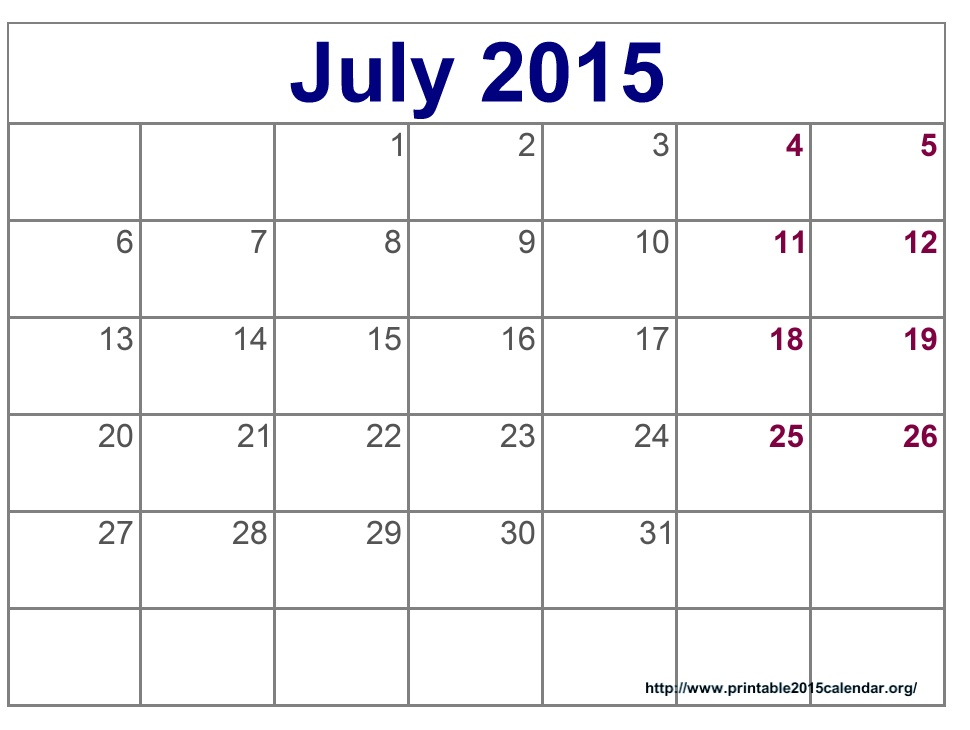 July free calendar clipart vector transparent Calendar July 2015 Clipart - Clipart Kid vector transparent