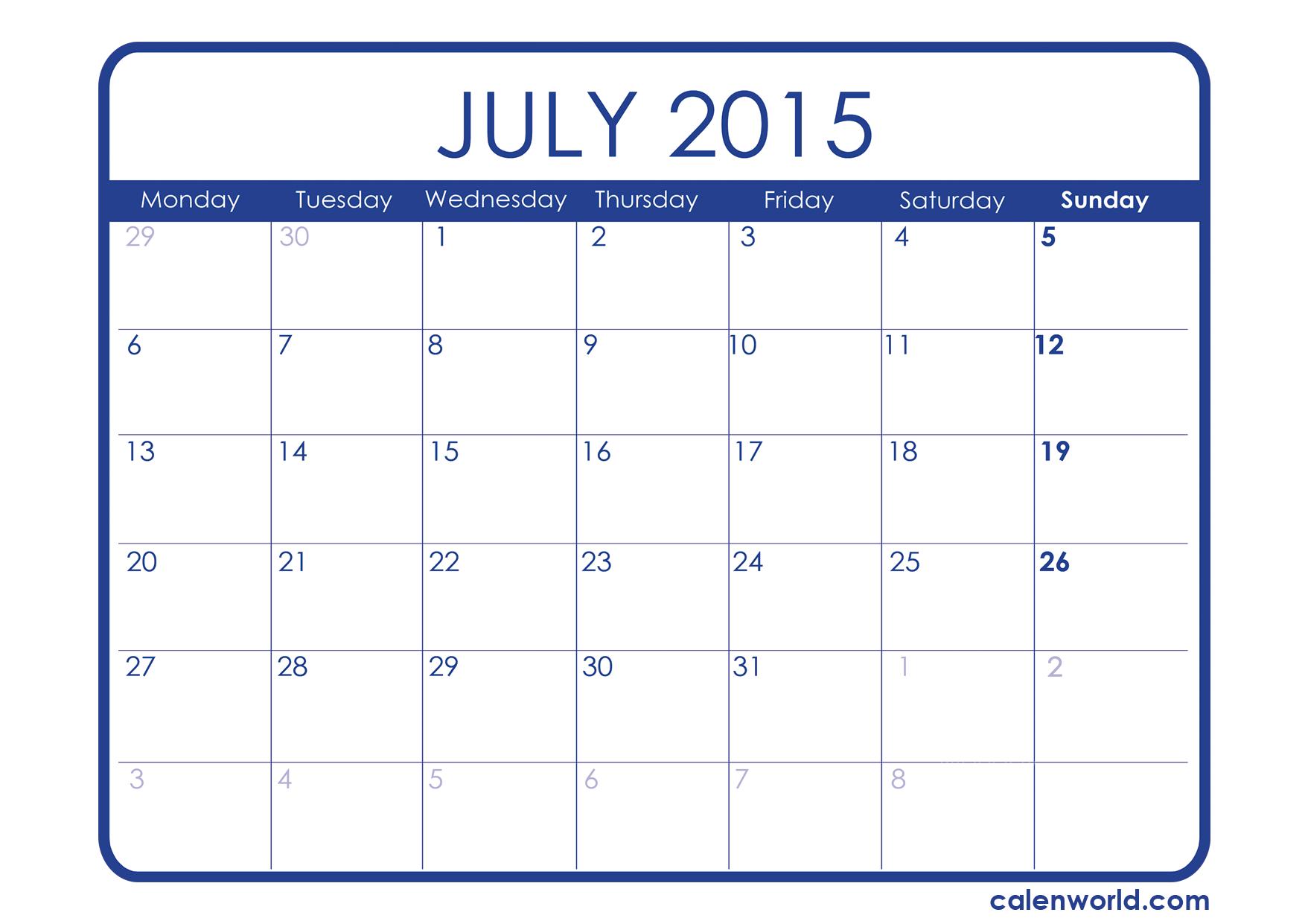 July free calendar clipart picture transparent 17 Best images about July 2015 Calendar on Pinterest | Canada ... picture transparent