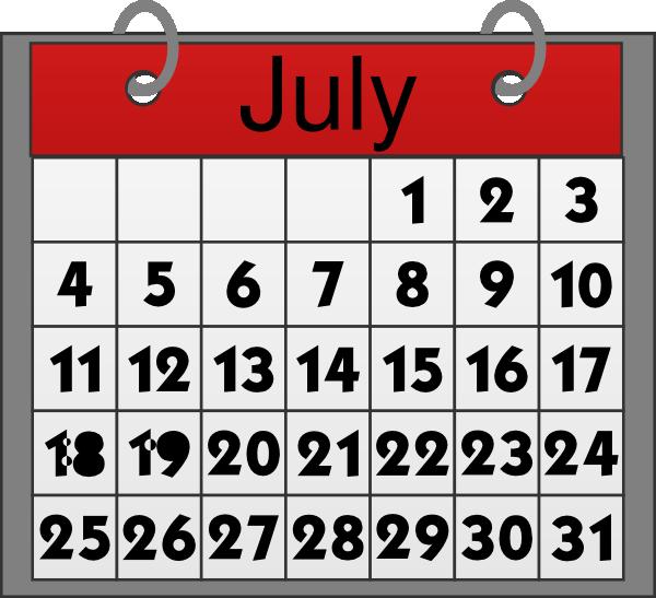 July free calendar clipart clip art free stock july calendar clipart clip art free stock
