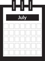 July free calendar clipart vector black and white stock Free Calendar Clipart - Clip Art Pictures - Graphics - Illustrations vector black and white stock