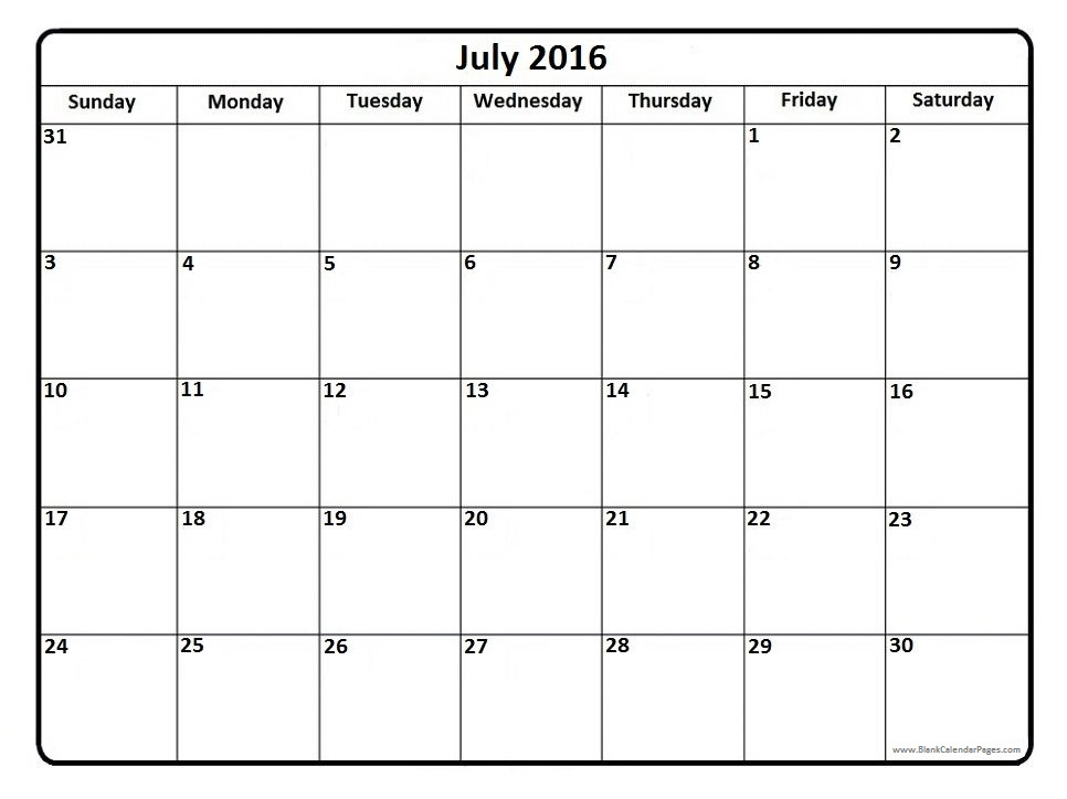 July free calendar clipart png royalty free Calendar july 2016 clipart - ClipartFest png royalty free
