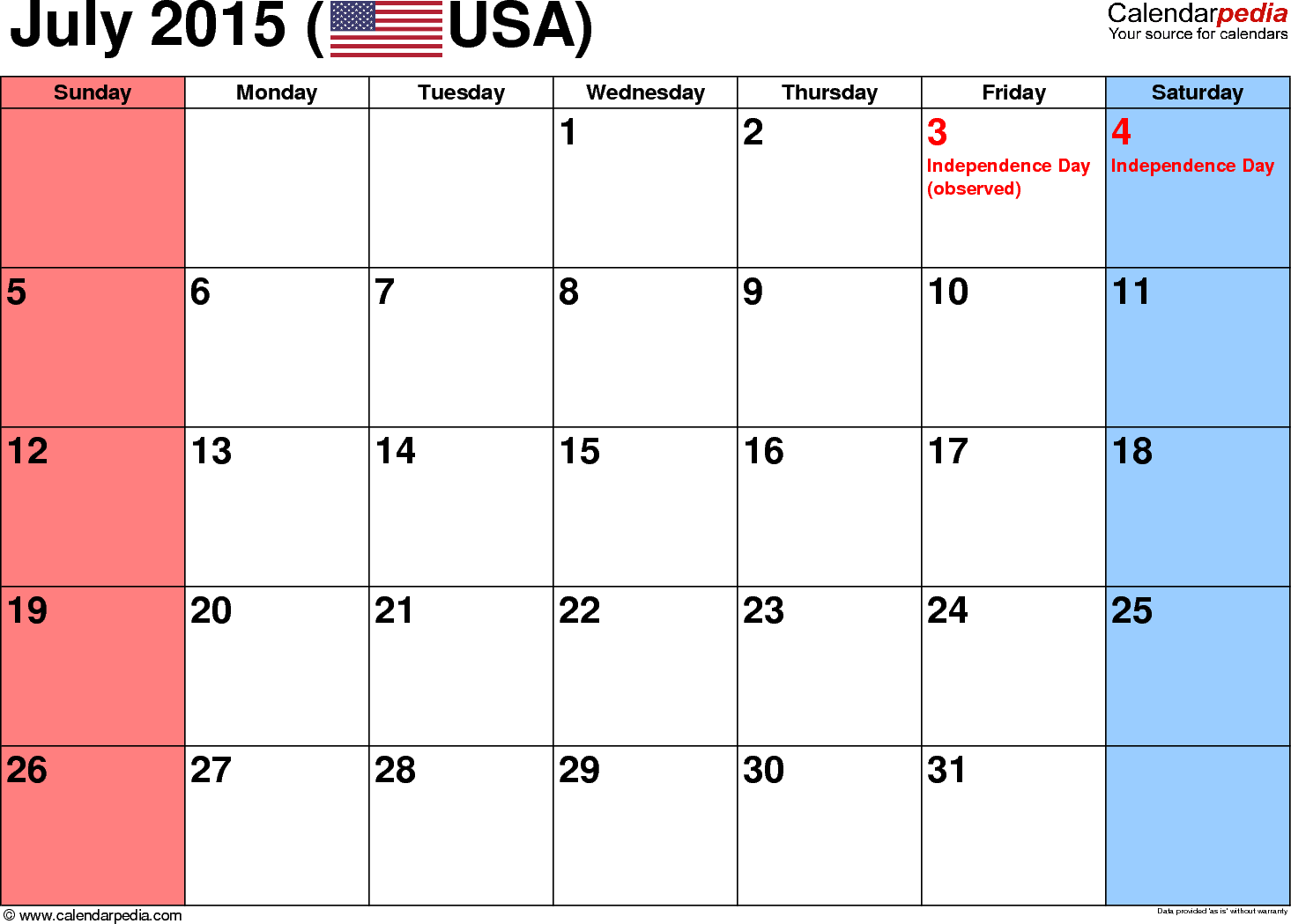 July free calendar clipart png freeuse Calendar July 2015 Clipart - Clipart Kid png freeuse