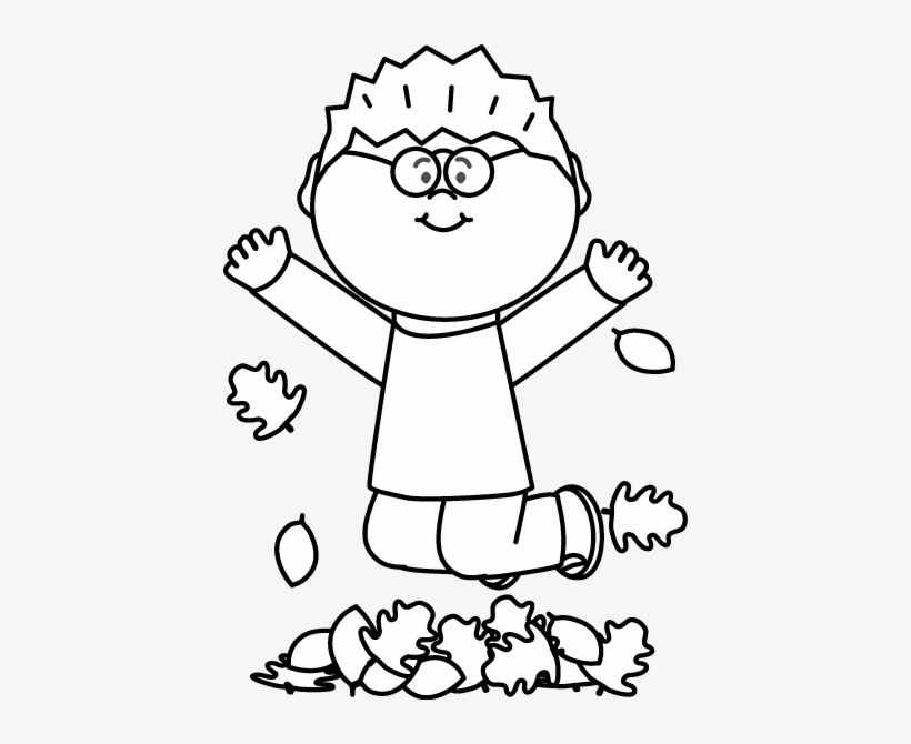 Jump in the leaves clipart black and white picture black and white Black And White Boy Jumping In Leaves Clip Art - Jumping ... picture black and white