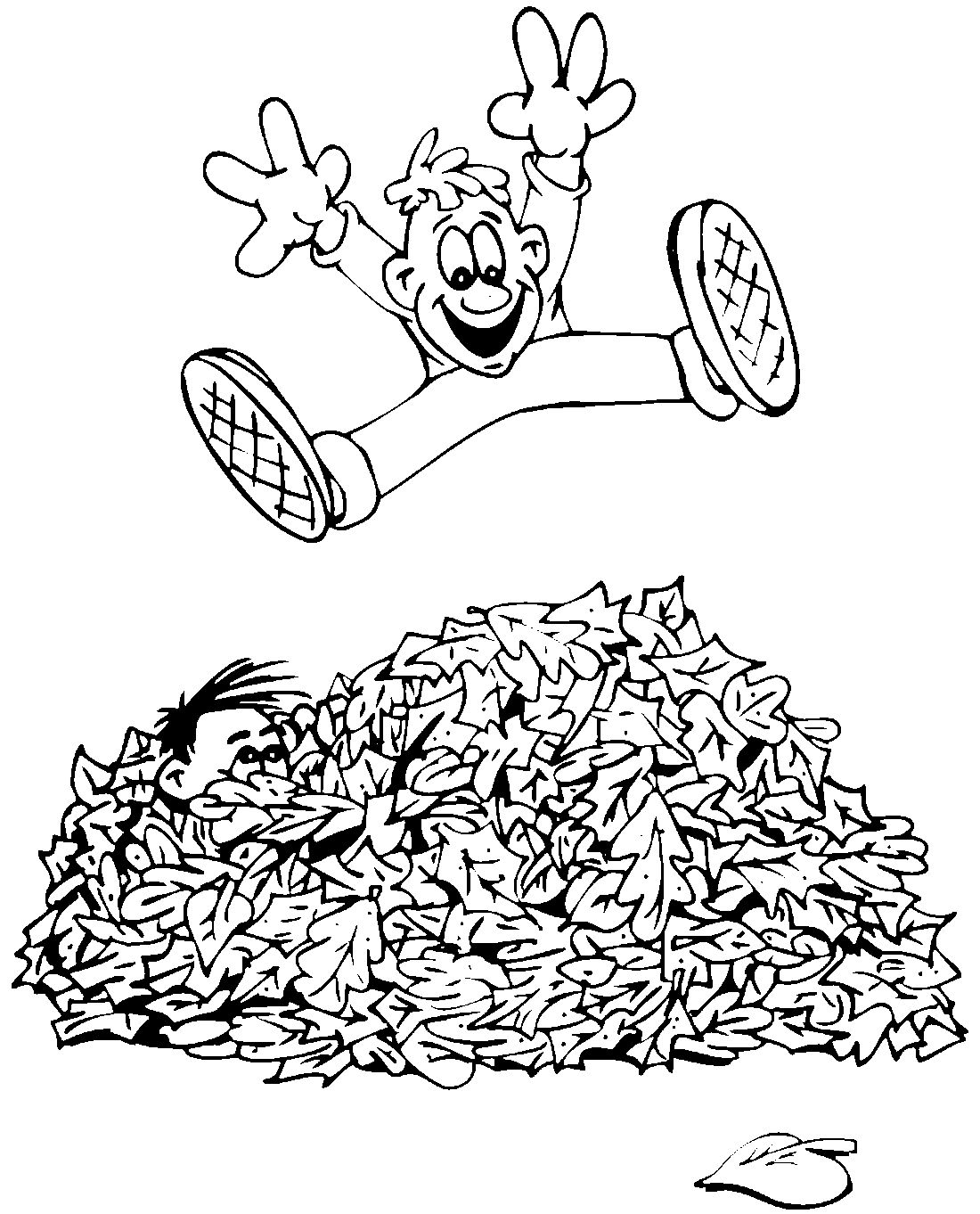 Jump in the leaves clipart black and white freeuse stock Pin by Nanuchia2000 on გააფერადე   Fall coloring ... freeuse stock