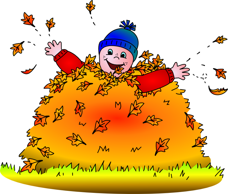 Jump into a pile of leaves clipart transparent Is It Hot In Here?\