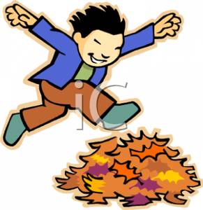 Jump into a pile of leaves clipart transparent stock A Colorful Cartoon of a Boy Jumping Into a Pile of Leaves ... transparent stock