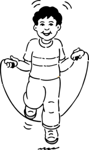 Jump rope clipart black and white jpg library library Boy Jumping Rope Clip Art at Clker.com - vector clip art ... jpg library library
