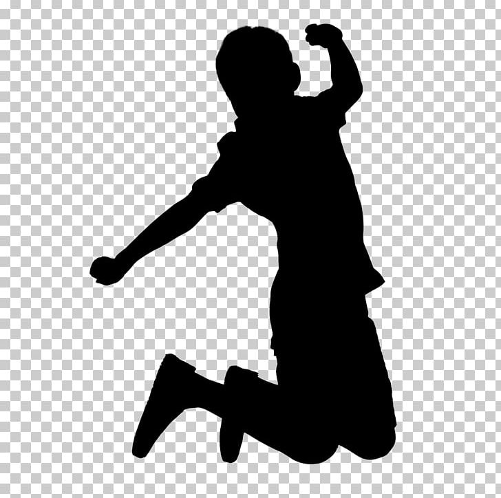 Jump up clipart black and white banner library library Child Silhouette Jumping PNG, Clipart, Black, Black And ... banner library library