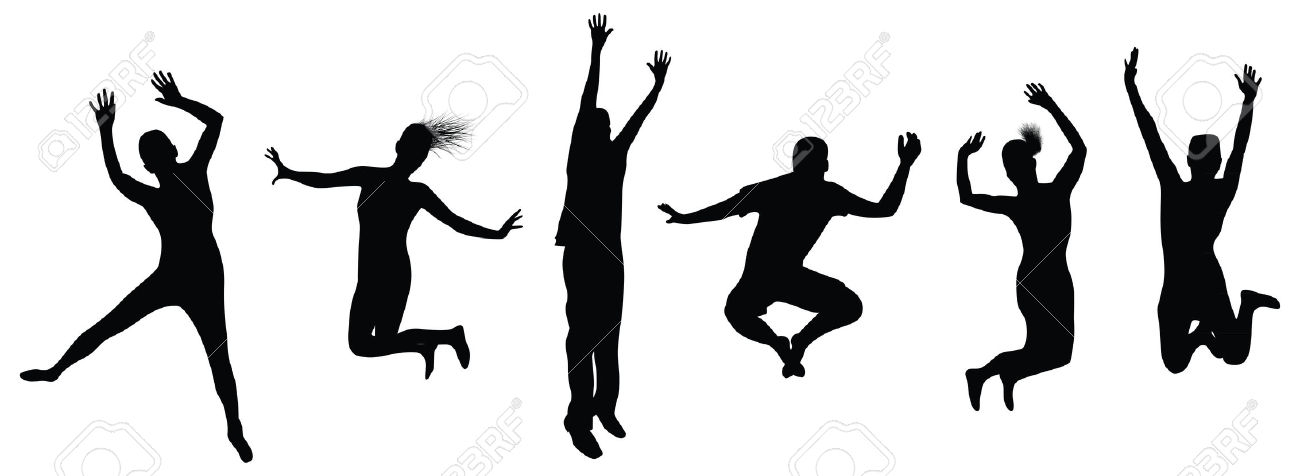 Jump up clipart black and white png transparent library Trampoline Clipart Black And White | Free download best ... png transparent library