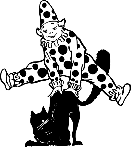 Jumping cat clipart library Clown Jumping Over Cat Clip Art at Clker.com - vector clip art ... library