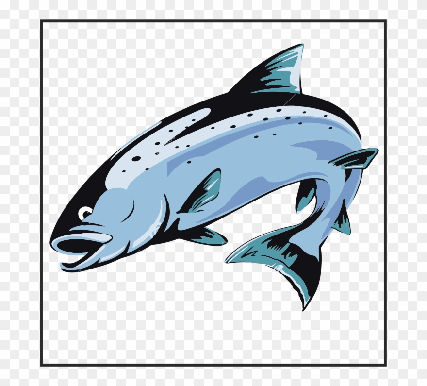Jumping salmon clipart jpg free download Grabbable 7 Of - Jumping Salmon Fish Clipart (#3981571 ... jpg free download