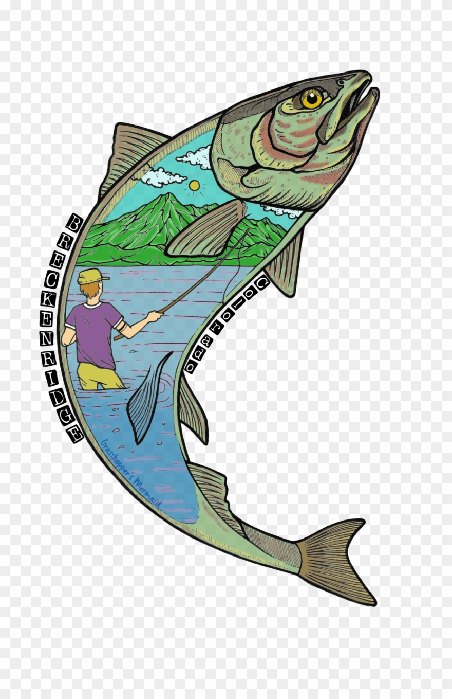 Jumping salmon clipart svg freeuse library Jumping Salmon - Salmon Clipart (#1217871) - PinClipart svg freeuse library