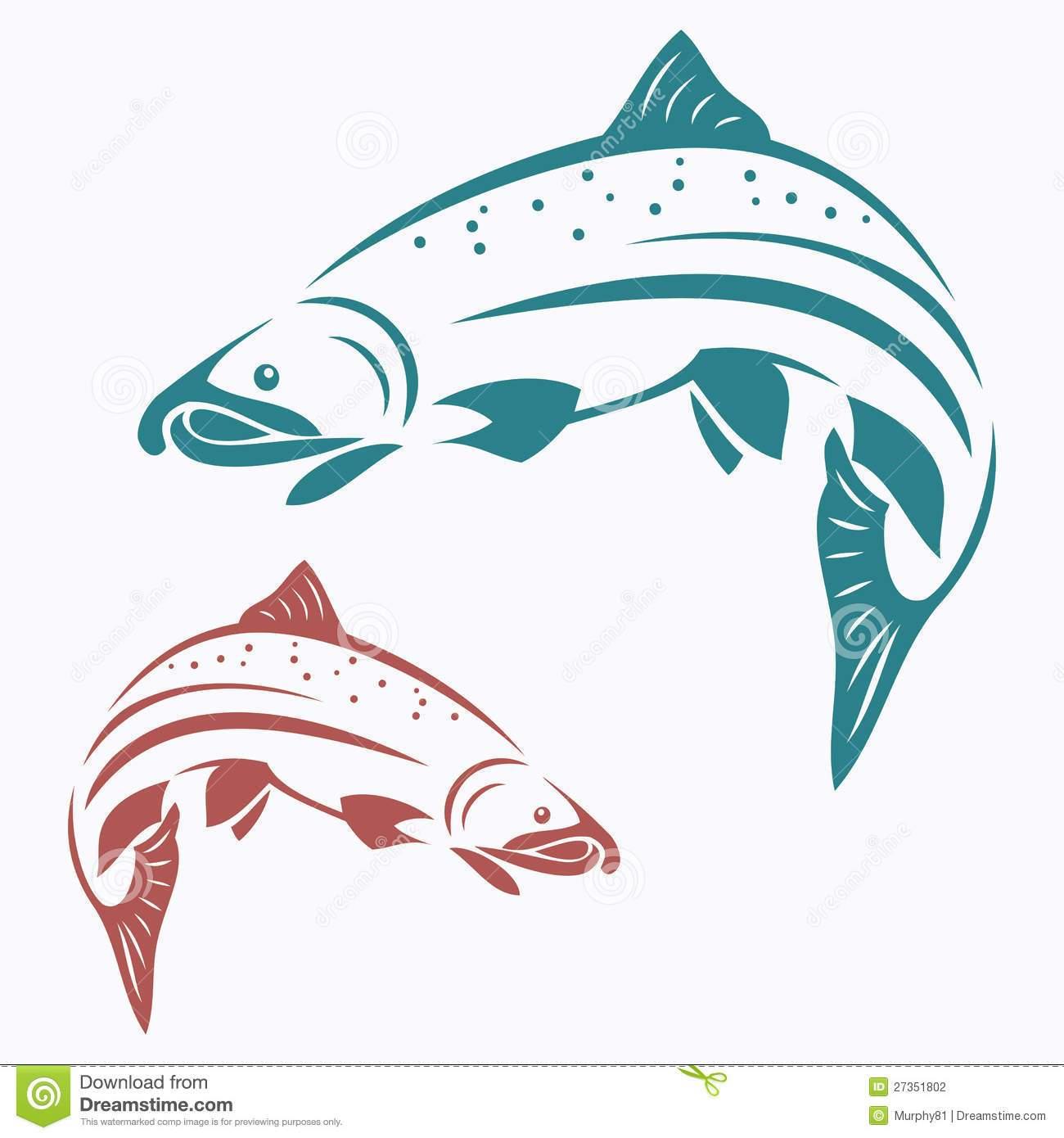 Jumping salmon clipart vector transparent stock Salmon jumping clipart 6 » Clipart Portal vector transparent stock