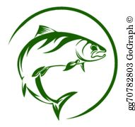 Jumping salmon clipart vector freeuse stock Salmon Clip Art - Royalty Free - GoGraph vector freeuse stock