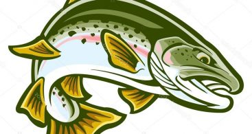 Jumping trout clipart graphic library library Jumping Trout Clip Art Archives ~ Vector Images Design graphic library library