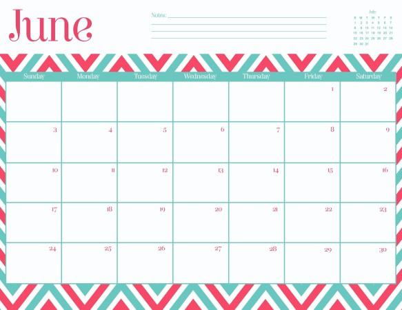 June 2016 calendar clipart clip art freeuse June 2016 Calendar Printable clip art freeuse