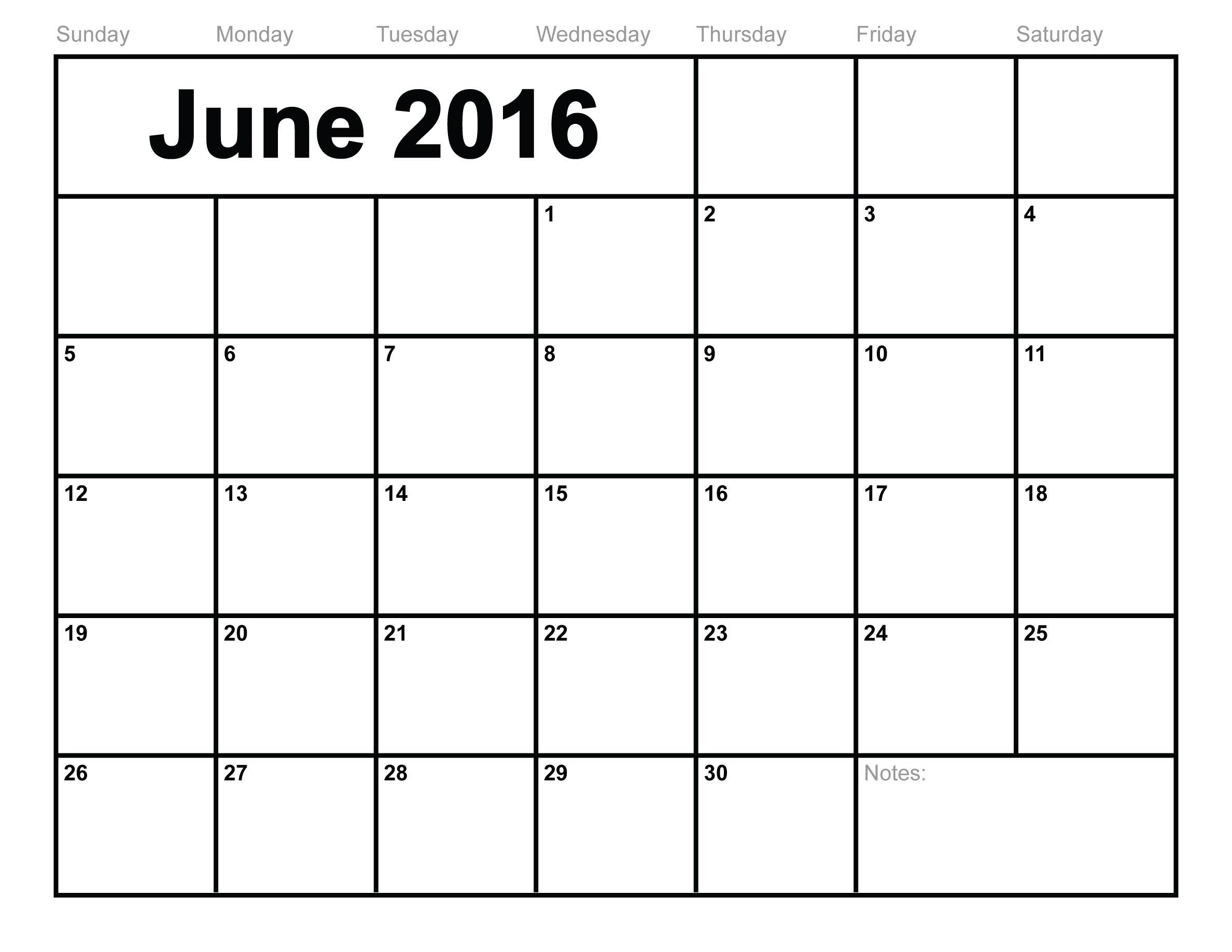 June 2016 calendar clipart banner freeuse library 2016 Calendar Printable banner freeuse library