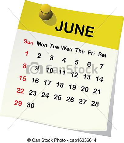 June 2016 calendar clipart picture freeuse Calendar june clipart - ClipartFox picture freeuse
