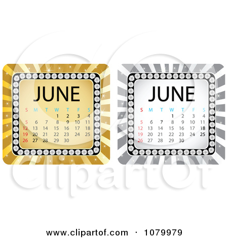 June calendar clipart royalty free library Royalty-Free (RF) June Calendar Clipart, Illustrations, Vector ... royalty free library