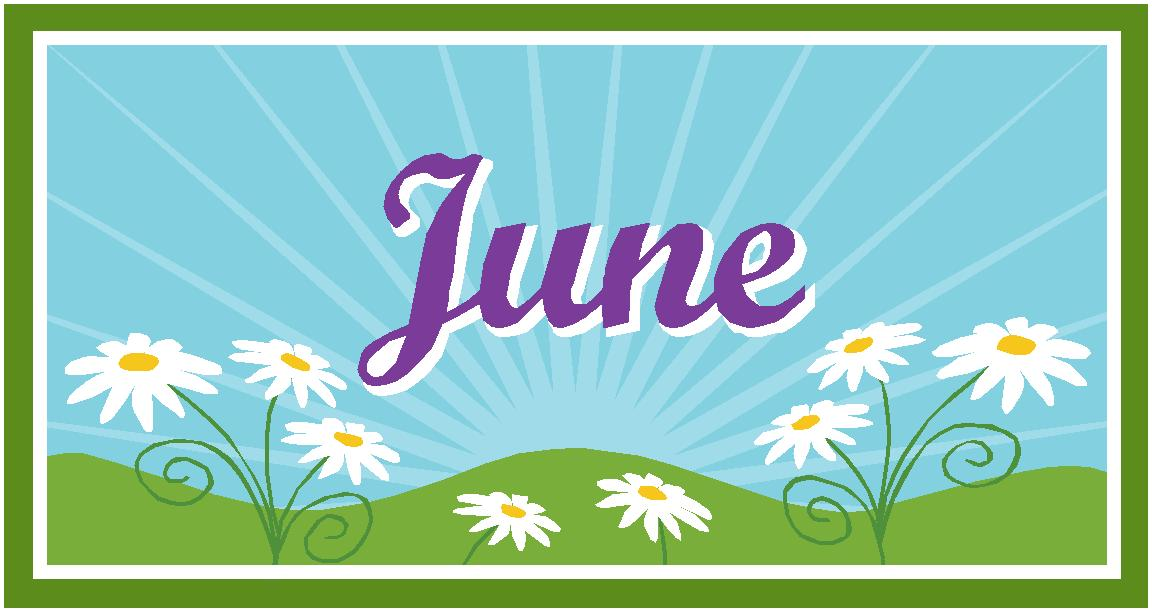 June calendar heading clipart banner freeuse stock 17 Best images about Calendar - June on Pinterest | Clip art ... banner freeuse stock