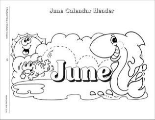 June calendar heading clipart svg June Calendar Header - Scholastic Printables svg